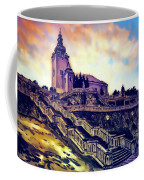 Church Dominant With Decorative Historical Staircase, Graphic Work From Painting. Coffee Mug