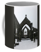 Church Of St Thomas A Becket In Heptonstall In Falling Snow Coffee Mug