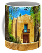Church With Blue Door Coffee Mug
