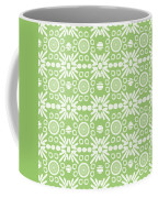 Cilantro- Green And White Art By Linda Woods Coffee Mug