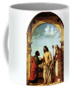 Cima Da Conegliano The Incredulity Of St Thomas With St Magno Vescovo Coffee Mug