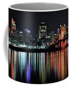 Cincinnati Lights The Ohio River Coffee Mug