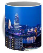 Cincinnati Skyline At Night Coffee Mug