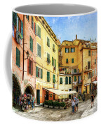 Cinque Terre - Vernazza Main Street - Vintage Version Coffee Mug