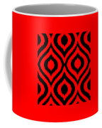 Circle And Oval Ikat In Black T02-p0100 Coffee Mug