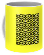 Circle And Oval Ikat In Black T05-p0100 Coffee Mug
