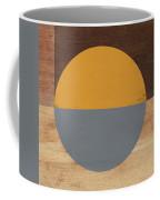 Cirkel Yellow And Grey- Art By Linda Woods Coffee Mug by Linda Woods