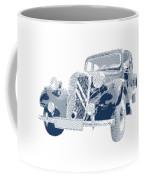 Citroen Traction Avant  - Parallel Hatching Coffee Mug