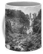 Cittenango Falls Tilt Shift Panorama Bw Coffee Mug