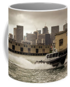 City Bay Police Boat - Color  Coffee Mug