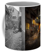 City - Germany - Alley - Coming Home Late 1904 - Side By Side Coffee Mug