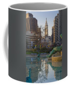 City Hall Reflecting In Swann Fountain Coffee Mug