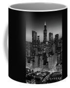 City Light Chicago B W Coffee Mug