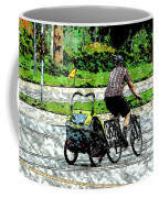 City Man On A Bike Coffee Mug