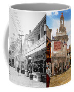 City - Ny - The Great Steeplechase 1903 - Side By Side Coffee Mug