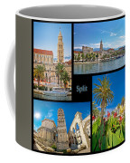 City Of Split Nature And Architecture Collage Coffee Mug