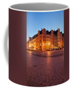 City Of Wroclaw Old Town Market Square At Night Coffee Mug