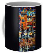 City Pier - Palette Knife Oil Painting On Canvas By Leonid Afremov Coffee Mug