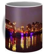 City Scenic From Amsterdam With The Blue Bridge In The Netherlands Coffee Mug