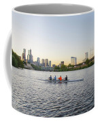 City Skyline - Philadelphia On The Schuylkill River Coffee Mug