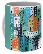 City Stories- Blue And Orange Coffee Mug