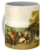 City Travellers Being Offered Fruit Coffee Mug