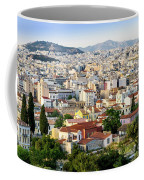 City View Of Old Buildings In Athens, Greece Coffee Mug