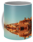 Cityscape For The Beautiful Nubian City Aswan In Egypt At The Golden Hour Of The Sunset Time. Coffee Mug