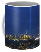 Cityscape Tribute In Lights Nyc Coffee Mug