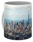 Cityscape View Of Manhattan, New York City. Coffee Mug