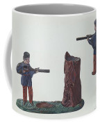 Civil War Soldier & Tree Trunk Bank Coffee Mug
