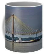 Clark Bridge And Barge  Coffee Mug