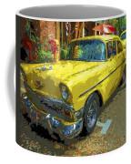 Classic 56 Chevy Car Yellow  Coffee Mug