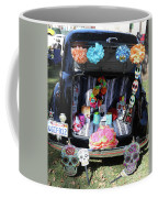 Classic Car Day Of Dead Decor Trunk Coffee Mug
