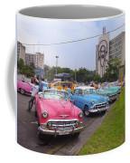 Classic Cars In Revolutionary Square Cuba Coffee Mug