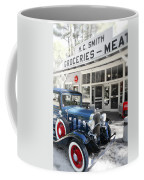 Classic Chevrolet Automobile Parked Outside The Store Coffee Mug