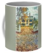 Classic Colonial Home In Autumn Pencil Coffee Mug