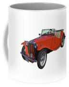 Classic Red Mg Tc Convertible British Sports Car Coffee Mug