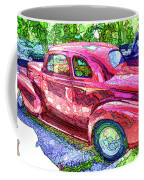 Classic Red Vintage Car Coffee Mug