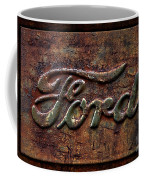 Classic Rusty Ford Pickup Truck Logo Detail Coffee Mug