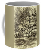 Classic Southern Beauty - Evergreen Plantation -sepia Coffee Mug