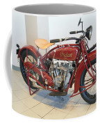 Classic Vintage Indian Motorcycle Red   # Coffee Mug