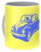 Classic Vw Beetle Tee Blue Ink Coffee Mug