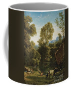 Classical Landscape With Figures By A Lake Coffee Mug