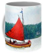 Classical Wooden Boat Tacksamheten Coffee Mug