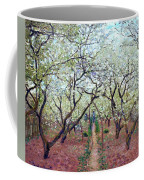 Claude Monet Orchard In Bloom Coffee Mug