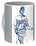 Clayton Kershaw Los Angeles Dodgers Pixel Art 10 Coffee Mug