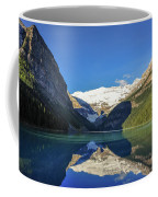 Clear Reflections In The Water At Lake Louise, Canada. Coffee Mug