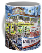 Clearwater Florida Boat Painting Coffee Mug