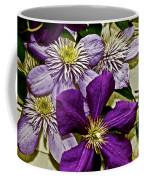 Purple Clematis Flower Vines Coffee Mug